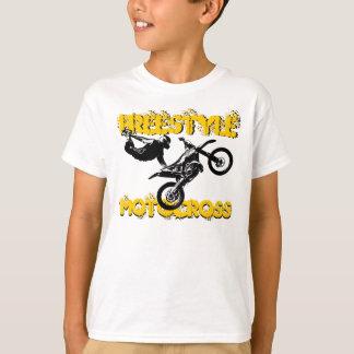 T-shirt de vélo de saleté de garçons