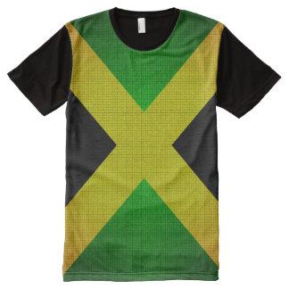 T-shirt de vert jaune de noir de drapeau de la
