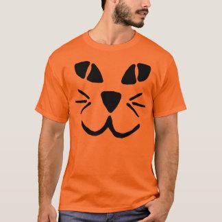 T-shirt de visage de citrouille de Chat-o-Lanterne