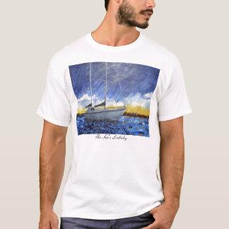 T-shirt de voilier de coucher du soleil