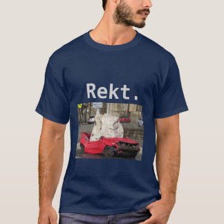 "T-shirt de voiture monté par Gamer de ""Rekt"""