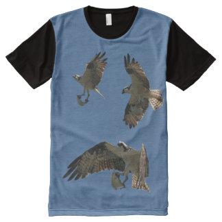 T-shirt de vol de faune d'animaux de poissons