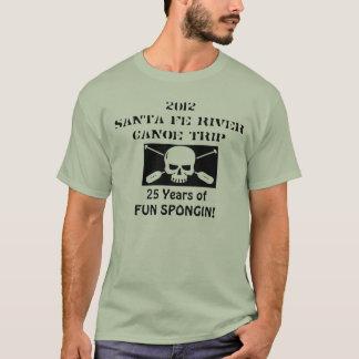 T-shirt de voyage de canoë