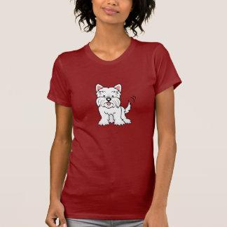 T-shirt de Westie de bande dessinée