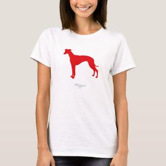 T-shirt de whippet (silhouette rouge)
