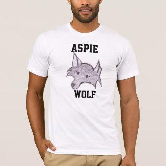 """T-shirt de """"Wolfie"""" de loup d'Aspie"""