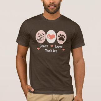 T-shirt de Yorkies d'amour de paix