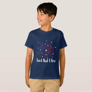 T-shirt Débarquez que j'aime la conception de feux