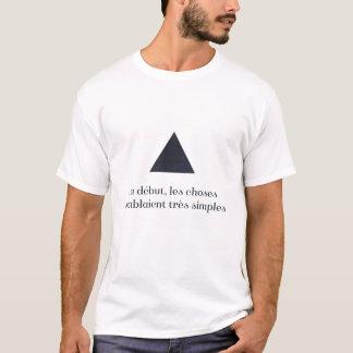 T-shirt Début d'Au, simples semblaient de très de choses