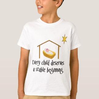 T-shirt Début stable