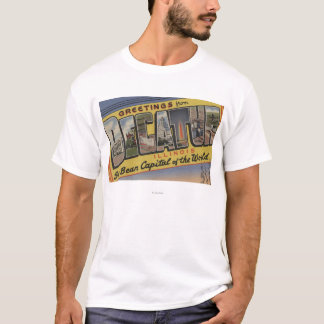 T-shirt Decatur, l'Illinois (capital d'haricot de soja)