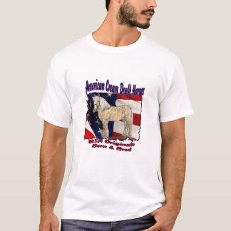 T-shirt déchiré de crème de drapeau