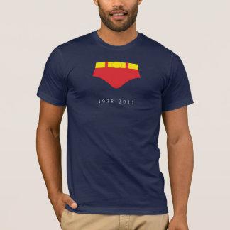 T-shirt DÉCHIREZ les shorts rouges (sur le bleu marine)