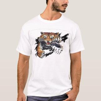 T-shirt déchirure de tigre
