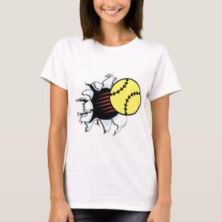 T-shirt Déchirure du base-ball il