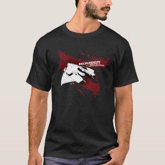 T-shirt d'éclaboussure de bombardier