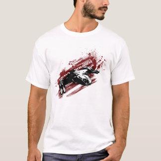 T-shirt d'éclaboussure de bombardier lourd