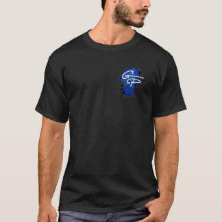 T-shirt d'éclaboussure d'encre du noir