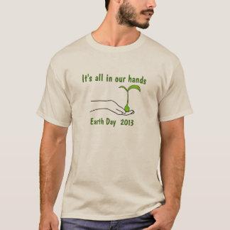 T-shirt d'Eco de jour de la terre