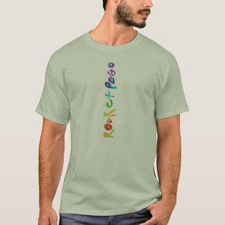 T-shirt Décollage de verticale d'arc-en-ciel d'Amanda