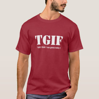 T-shirt décontracté de TGIF vendredi