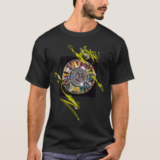 T-shirt décoratif de mode d'initiale en verre de
