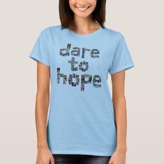 T-shirt Défi pour espérer les chemises des femmes