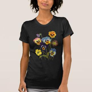 T-shirt Défilé brodé des pensées