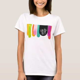 T-shirt Défilé de baisse de Skool de carnet à dessins