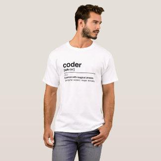T-shirt Définition de codeur