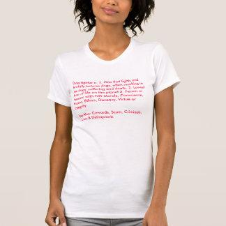 T-shirt Définition d'une chemise de dames de combattant de