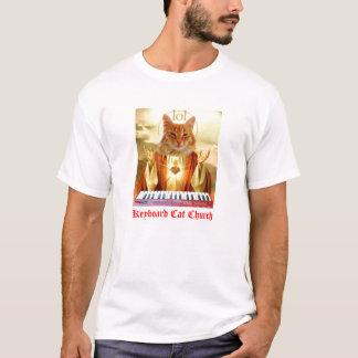 T-shirt d'église de chat de clavier