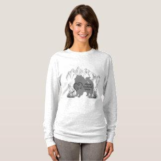 T-shirt Délivrance de Keeshond d'Alberta - gris