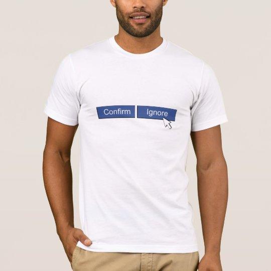 T-shirt Demande d'ami de Facebook