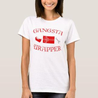T-shirt d'emballage de cadeau de Gangsta de Joyeux