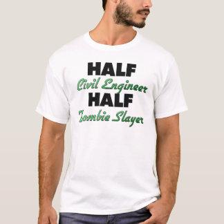 T-shirt Demi de demi de tueur de zombi d'ingénieur civil