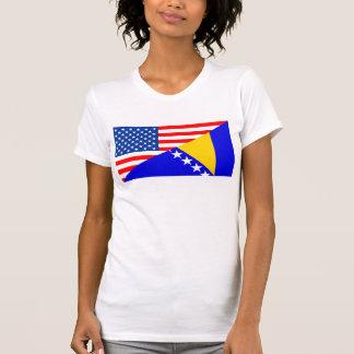T-shirt demi de drapeau des Etats-Unis Amérique