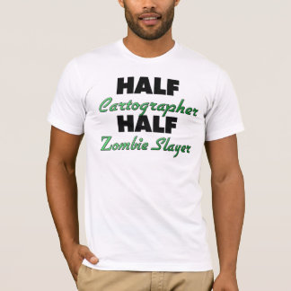 T-shirt Demi de tueur de zombi de demi de cartographe