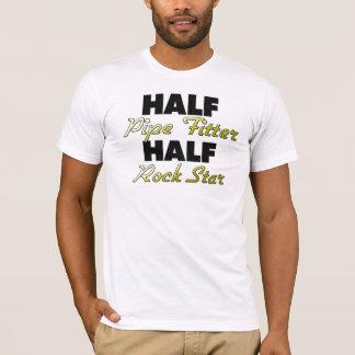 T-shirt Demi de vedette du rock de monteur de tuyau de
