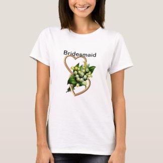 T-shirt Demoiselle d'honneur du muguet