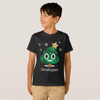 T-shirt d'Emoji de dunette d'arbre de Noël avec le