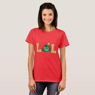 T-shirt d'Emoji de dunette d'arbre de Noël de LOL