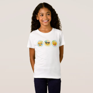 T-shirt d'Emoji de filles