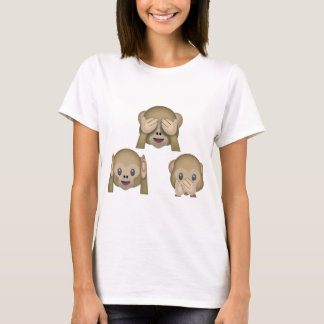 T-shirt d'Emoji de trois singes