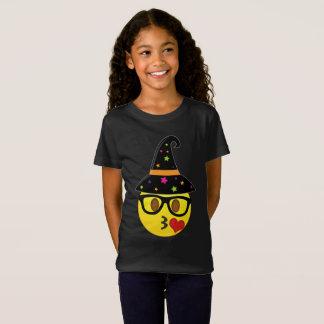 T-shirt d'Emoji Halloween de sorcière pour des
