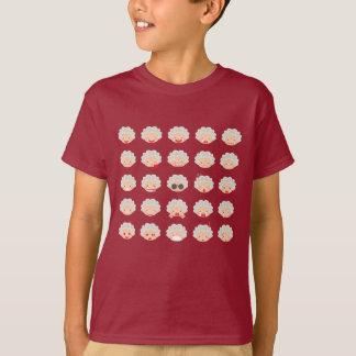 T-shirt d'Emojis de 25 mamies