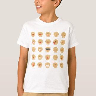 T-shirt d'Emojis de pain de 25 gingembres