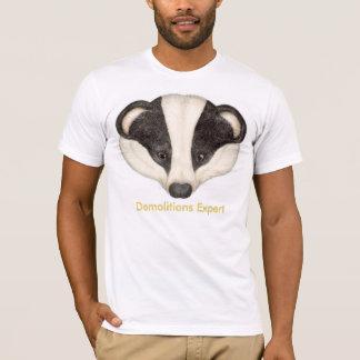 T-shirt Démolitions de blaireau expertes