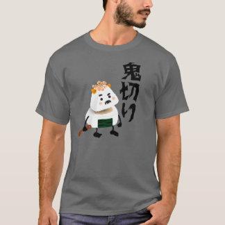 T-shirt Démon d'Onigiri (Oni) coupé (Giri) dans la moitié