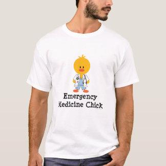 T-shirt d'encolure ras du cou de poussin de